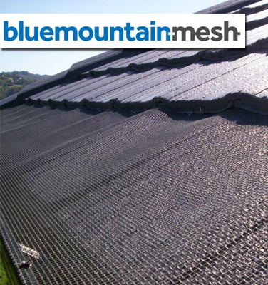 Blue Mountain Mesh Gutter Guard Tiled Roof